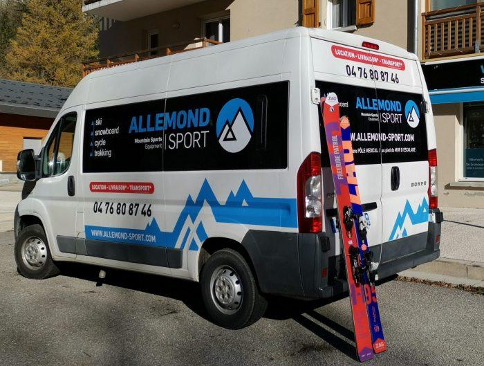 Service livraison Allemond Sport, domaine skiable de l'Alpe d'Huez
